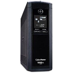 $109.95 (原价$149.95)CyberPower CP1500AVRLCD UPS 1500VA/900W, 12插口, 模拟正弦波