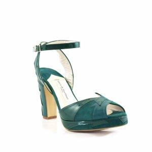 Zia Low Teal - Terry de Havilland | Designer Luxury Shoes & Bags