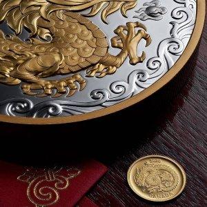 经典套装$26.95加拿大皇家铸币厂爆款纪念币热卖 幸运花龙纯金币$138.88