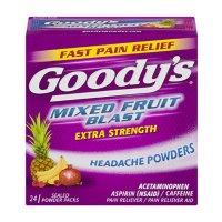 Goody's 强效头痛散 热带水果口味 24Count | 2 Pack
