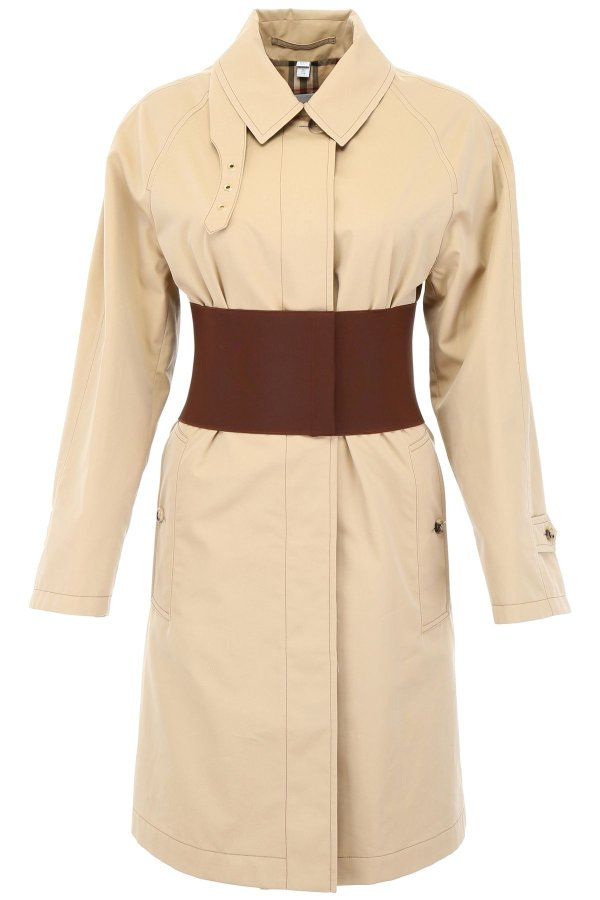 TRENCH COAT WITH 收腰外套
