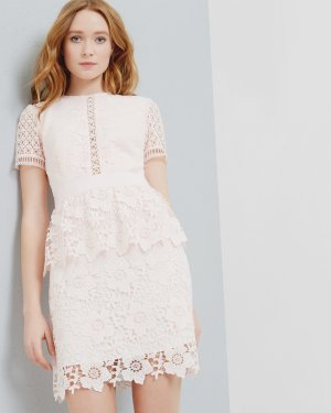 Layered lace dress - Baby Pink | Dresses | Ted Baker