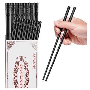 $4.95MUTNITT 14 Pairs Fiberglass Chopsticks
