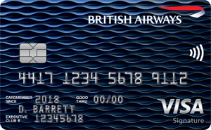 Earn 4 Avios for every $1 spent on all purchases within your first year up to $30,000. That's up to 120,000 bonus AviosBritish Airways Visa Signature® Card