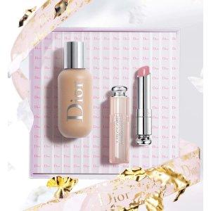 Dior粉底液和唇膏套装