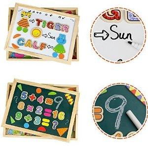 白菜价!$ 7.99Jerryvon 儿童学前字母画板、拼图套装,99件套装