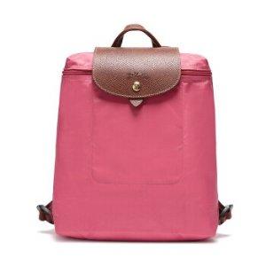 闪购价¥440(原价¥780)LONGCHAMP 珑骧 Le Pliage系列桃粉色可折叠双肩包
