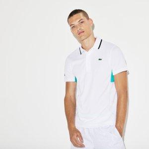 LacosteMen's SPORT Net Print Pique Tennis Polo