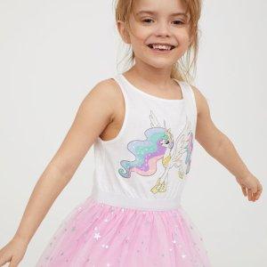 一件8折 收漂亮小裙子限今天:H&M官网 童装精选美衣限时促销