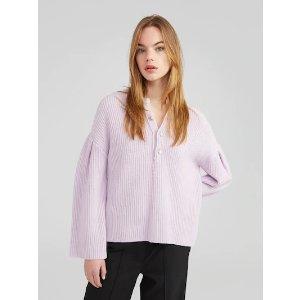 EDITED香芋紫针织衫