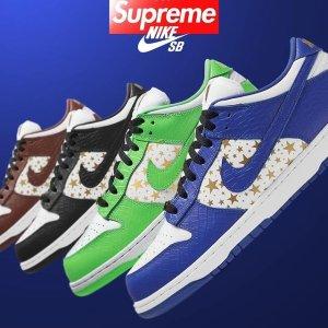 3月4日发售 四色可选预告:Supreme x Nike SB Dunk Low 2021联名款球鞋曝光
