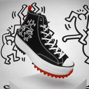 Conversex Keith Haring 联名Run Star帆布鞋