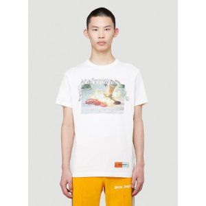 Heron PrestonPrinted T-Shirt in White