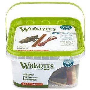 Whimzees 宠物洁牙棒中的爱马仕14根 适合40-60 lb狗狗