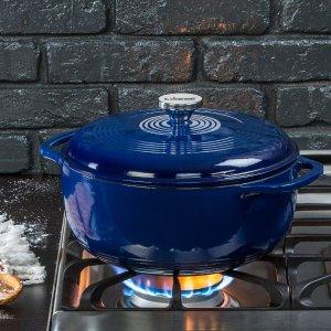 Lodge蓝色珐琅铸铁锅