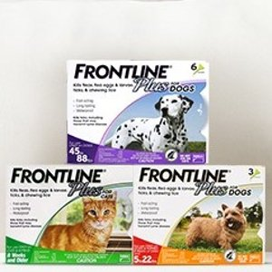 全场8折Frontline Plus 宠物体外驱虫剂促销