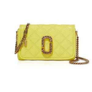 Marc Jacobs柠檬黄链条包