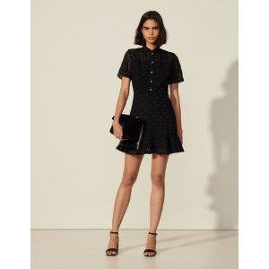 SandroShort-sleeved lace dress
