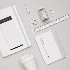 低至$4.95 澳洲品牌kikki-k 性冷淡白色系列文具