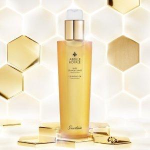 Guerlain使用后肌肤清爽柔嫩,倍感舒适帝皇蜂姿柔肤净透卸妆油