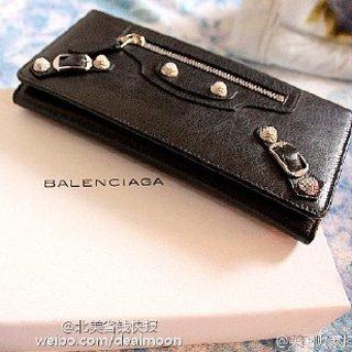 低至4.4折 $336收封面Balenciaga 机车钱包、运动鞋特卖 快抢黑金拉链款