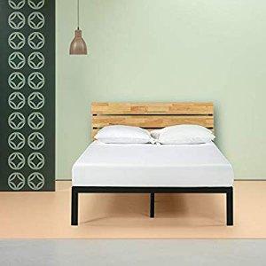 $159.19Zinus Paul 木质钢组合结构床架 Queen尺寸