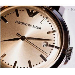 低至4.5折+额外8折 全球免邮Emporio Armani 精选男女腕表热卖