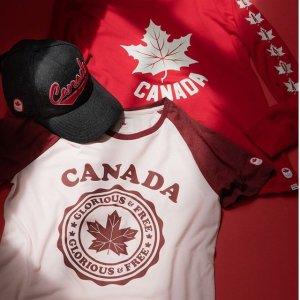 低至5折The Bay 加拿大奥运队队服系列促销 T恤$15,卫衣$20