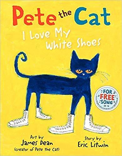 童书 Pete the Cat: I Love My White Shoes