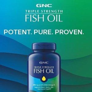 低至3.5折 90粒仅$7独家:GNC 深海鱼油大促 每天必备的Omega补充