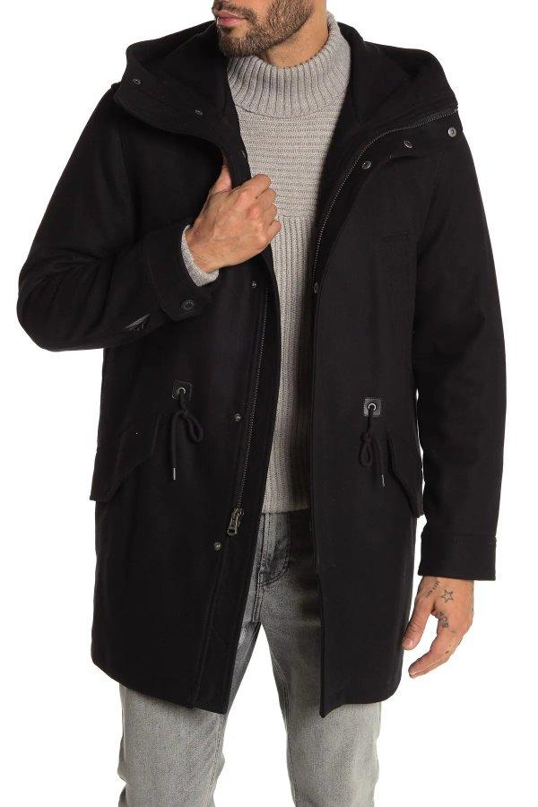 Wool Blend Drawstring 外套