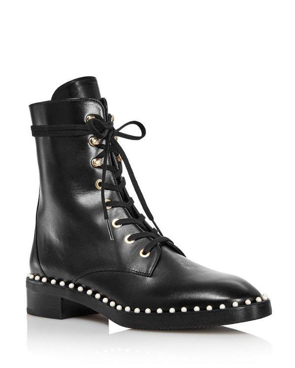 珍珠马丁靴