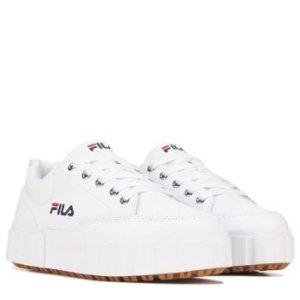 Fila8 8.5 10女款厚底小白鞋
