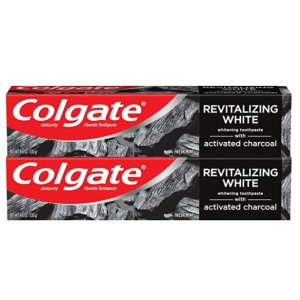 Colgate Activated Charcoal Toothpaste for Whitening Teeth with Fluoride, Natural Mint Flavor, Vegan, 4.6 ounce (2 Pack)