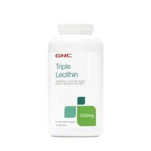 $12.49 超人气商品补货GNC 三倍卵磷脂 1200 MG 180粒 血管的清道夫