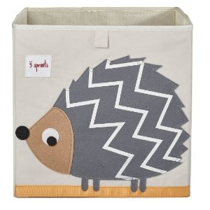 3 SproutsStorage Box, Hedgehog, Grey