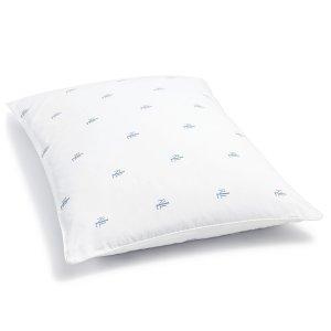 $6.99 (原价$20)Lauren Ralph Lauren 带Logo中等硬度枕头,Standard尺寸
