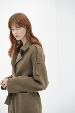 QUAINT ICONIC Aimee Wool-Cashmere Coat - Matcha