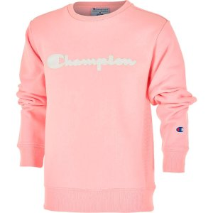ChampionGirls' Champion Premium Fleece Script Logo Crewneck Sweatshirt