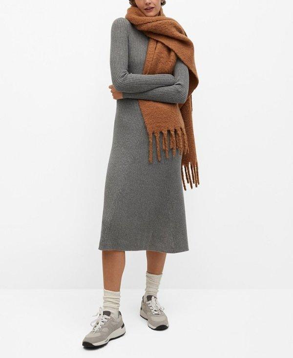 针织连衣裙