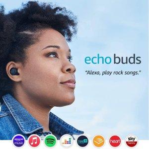 5折!现价£59.99 原价£120Amazon Echo Buds 真无线蓝牙耳机耳机