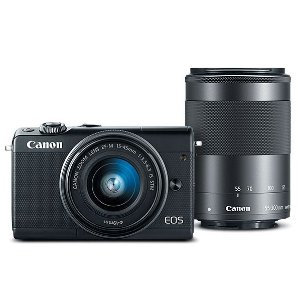 EOS M100 EF-M 15-45mm f/3.5-6.3 IS STM & EF-M 55-200mm f/4.5-6.3 IS STM Bundle Black