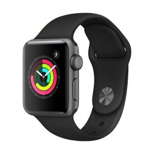 AppleSpace GrayWatch Series 3 GPS - 38mm - Sport Band - Aluminum Case