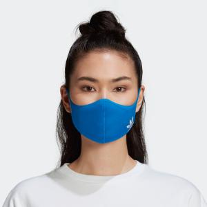 $22热售上新:adidas 防护口罩3个装 经典蓝,炫酷黑 可清洗反复使用