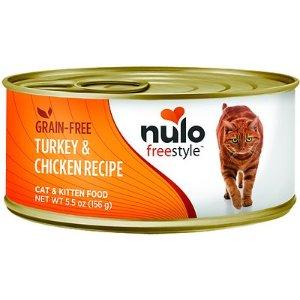 Nulo Freestyle Turkey & Chicken Recipe Grain-Free Canned Cat & Kitten Food, 5.5-oz, case of 24