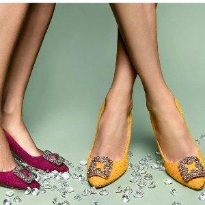 低至3折 £201收高跟鞋Manolo Blahnik 美鞋专场,收经典钻扣、新款穆勒鞋