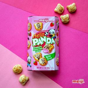 $10.44 + 包邮 一盒仅$1Meiji 明治 草莓夹心熊猫小饼干 10盒装