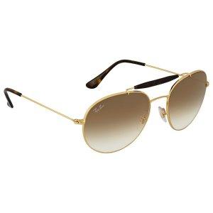4381f8fca29 Ray-Ban Green Classic Square Sunglasses. Ray-BanLight Brown Gradient Metal  Sunglasses