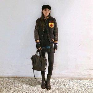 欧阳娜娜 2月4日IG 同款 5折Miu Miu 夹克+Zara 报童帽+Balenciaga 托特包