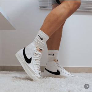 折扣区5折+额外7折+抽奖活动黑五价:Nike Blazer 史低价 经典logo 香芋紫、baby粉、反勾都有